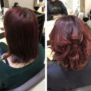 root stretch hair colour at hairven hairdressers, beeston